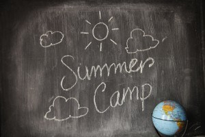Summer camp written on black board