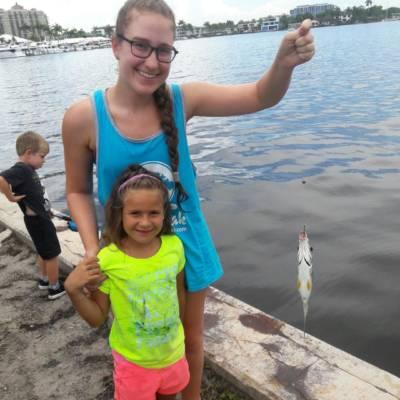 fishing with girl